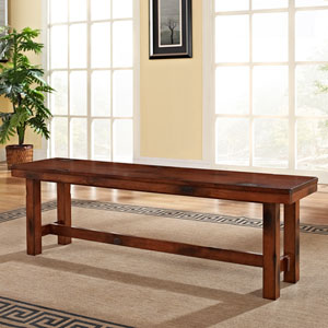 Dark Oak Wood Bench