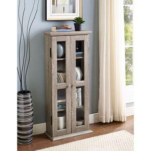 41-inch Wood Media Cabinet - Driftwood