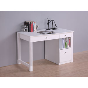 White Deluxe Solid Wood Desk
