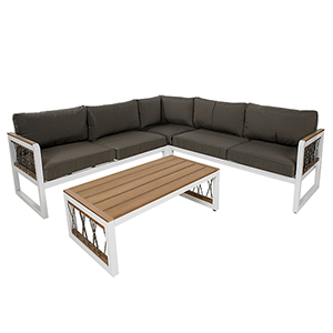 4-Piece Outdoor Sectional with Cord Accents