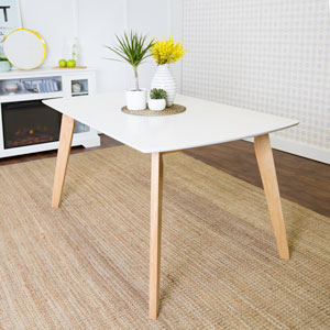 60-inch Retro Modern Wood Dining Table