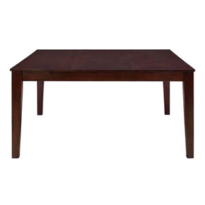 60-inch Cappuccino Wood Square Dining Table