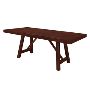60-inch Solid Wood Trestle Dining Table - Espresso