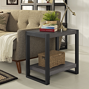 Angelo HOME 24-Inch Side Table - Charcoal