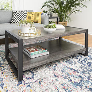 Angelo HOME 48-Inch Coffee Table - Charcoal