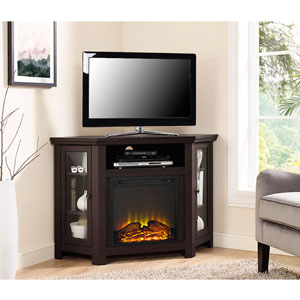 48-inch Corner Fireplace TV Stand - Espresso