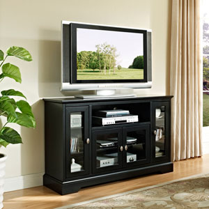Black 52 In. Highboy Style Wood TV Stand