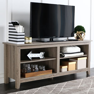 Essential 58-inch Driftwood TV Stand Console