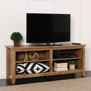 Essential 58-inch Barnwood TV Stand Console