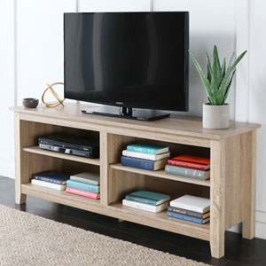 58-inch Natural Wood TV Stand Console