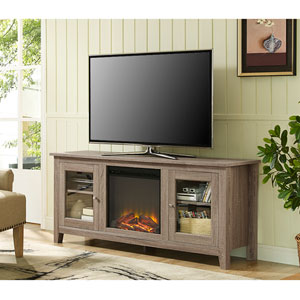 58-inch Fireplace TV Stand with Doors