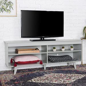 58-Inch Wood Simple Contemporary Console - Grey
