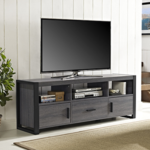 Angelo HOME 60-Inch TV Stand Console - Charcoal