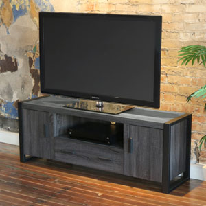 Urban Blend Charcoal 60-Inch TV Stand Console