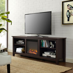 70-inch Fireplace TV Stand - Espresso
