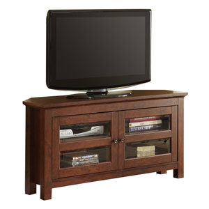 Traditional Brown 44-Inch Corner TV Console