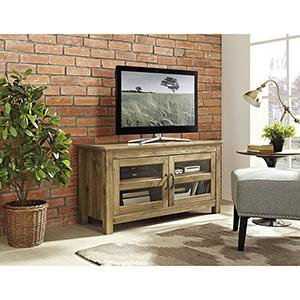 44-Inch Wood TV Media Stand Storage Console - Barn wood