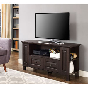 Columbus 44-inch Espresso Wood TV Stand