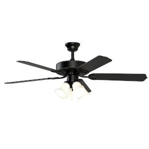 Aire Decor Black Four-Light LED Ceiling Fan