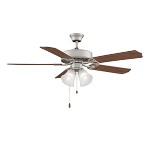 Aire Decor Satin Nickel Four-Light LED Ceiling Fan
