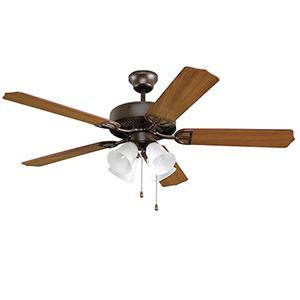 Aire Decor Oil Rubbed Bronze Four-Light LED Ceiling Fan