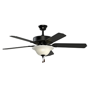 Aire Decor Black Three-Light LED Ceiling Fan