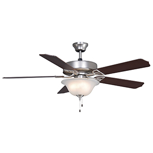 Aire Decor Satin Nickel Three-Light LED Ceiling Fan