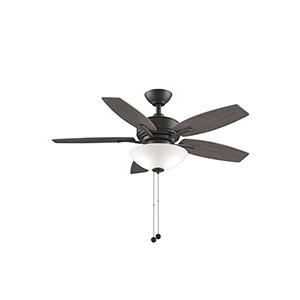 Aire Deluxe Matte Greige Two-Light LED Ceiling Fan