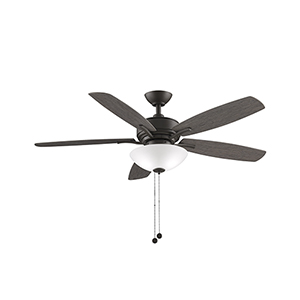 Aire Deluxe Matte Greige Two-Light LED Ceiling Fan
