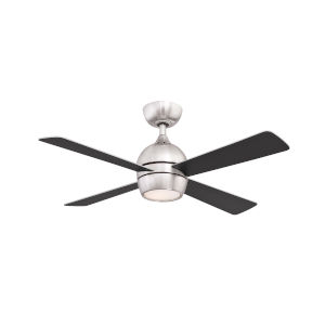 Kwad Brushed Nickel 44-Inch LED Ceiling Fan with Black Blades