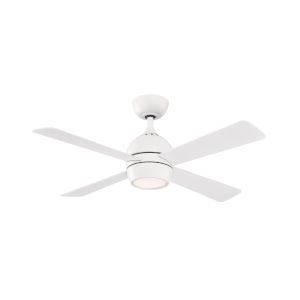 Kwad Matte White 44-Inch LED Ceiling Fan