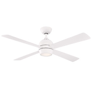 Kwad Matte White 52-Inch LED Ceiling Fan