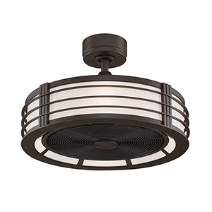 Beckwith Oil Rubbed Bronze Four-Light LED Ceiling Fan