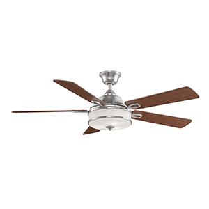 Stafford Brushed Nickel Three-Light LED Ceiling Fan