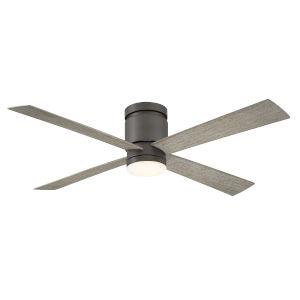 Kwartet Matte Greige 52-Inch LED Indoor Outdoor Ceiling Fan