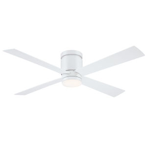 Kwartet Matte White 52-Inch LED Indoor Outdoor Ceiling Fan