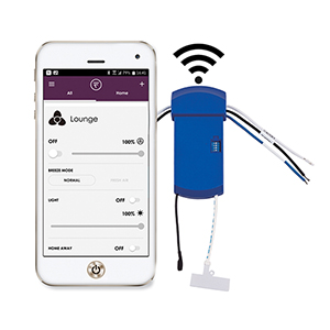 Wrap Custom Blue Fan Sync Wifi Receiver