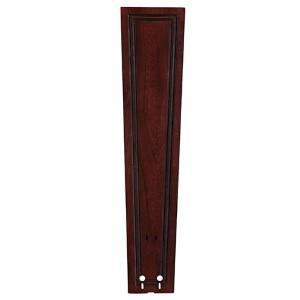 Dark Cherry 26-Inch Carved Rectangle Framed Wood Ceiling Fan Blade, Set of 5
