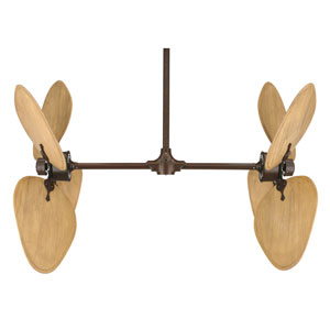 Palisade Rust Ceiling Fan with Samble Sand Blades