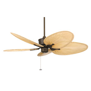 Islander Oil Rubbed Bronze Ceiling Fan with Natural Blades