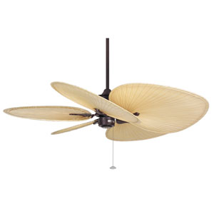 Islander Rust Ceiling Fan with Natural Blades