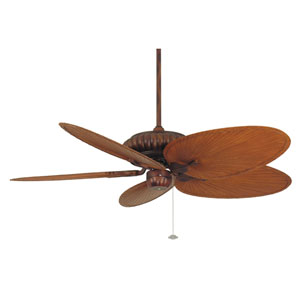 Belleria Tortoise Shell Ceiling Fan with Brown and Red Blades