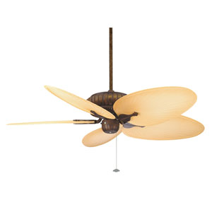 Belleria Tortoise Shell Ceiling Fan with Natural Blades
