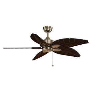 Windpointe Antique Brass Ceiling Fan with Walnut Blades