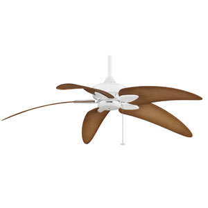 Windpointe Matte White 52-Inch Ceiling Fan with Plastic Palm Blades