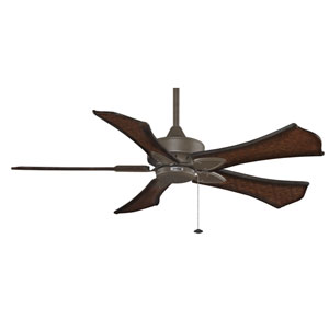 Windpointe Oil Rubbed Bronze 52-Inch Ceiling Fan with Walnut Blades