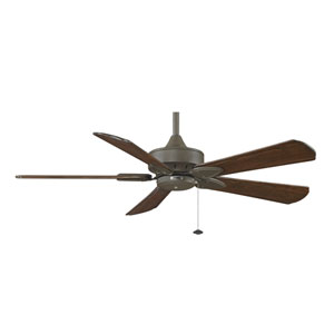 Windpointe Oil Rubbed Bronze 52-Inch Ceiling Fan with Walnut Raised Blades