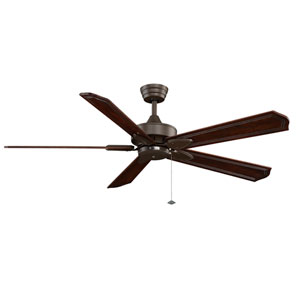 Windpointe Oil Rubbed Bronze Ceiling Fan with Dark Cherry Blades