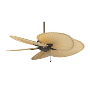 Windpointe Oil Rubbed Bronze 52-Inch Ceiling Fan with Natural Palm Blades