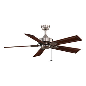 Windpointe Pewter Ceiling Fan with Dark Cherry Blades